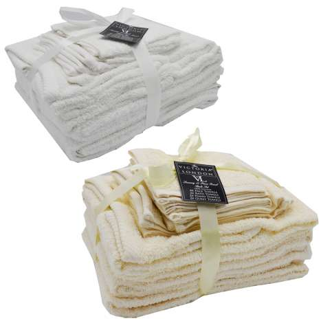 Victoria London 10 Piece Towel Bale Set - Assorted Colours