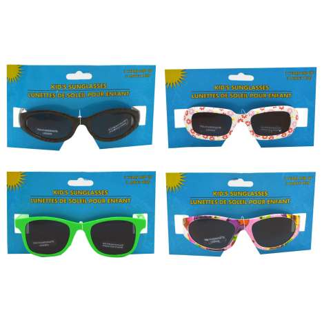 Kids plastic sunglasses - assorted designs and colours