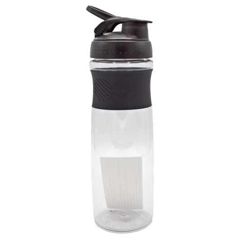 Flip Top Clear Sports Bottle 900ml - Black