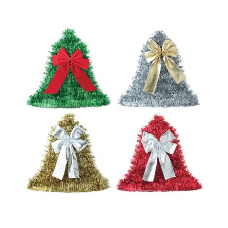 Tinsel wall plaque - bell