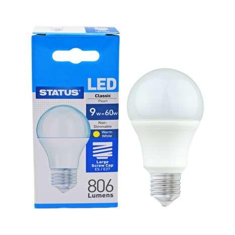 Status LED 9w=60w Classic Large Screw Cap Light Bulb