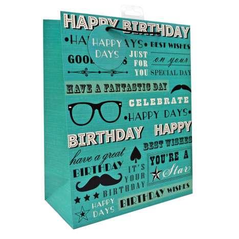 Large Gift Bags - Happy Birthday (26cm x 32cm)