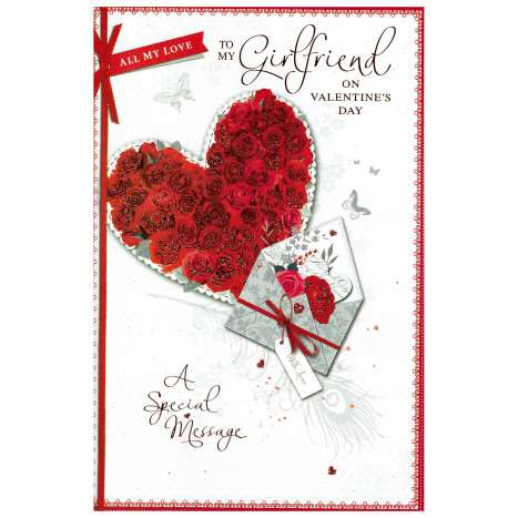 Valentines Day Cards - Girlfriend (Code 75 - cellophane wrapped)