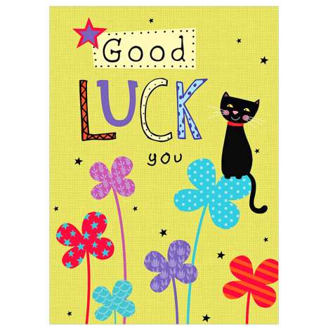 Garlanna Greeting Cards Code 50 - Good Luck Cat