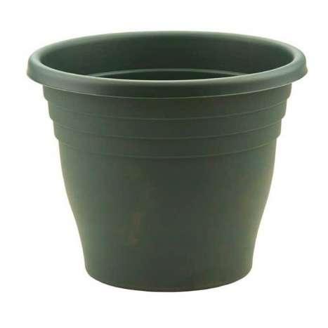 40cm round ascot planter green
