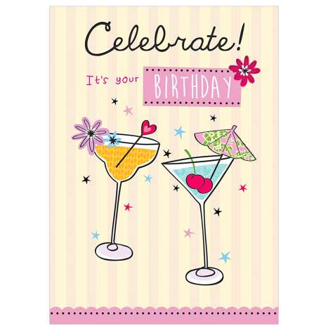 Garlanna Greeting Cards Code 50- Celebrate Cocktails