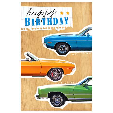 Garlanna Greeting Cards Code 50 - Open Car