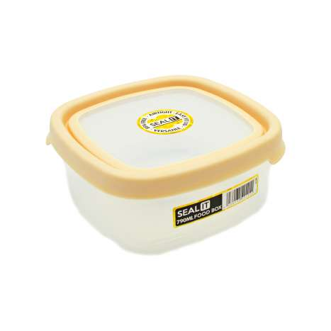 Wham Seal It Square Food Box 790ml - Cream