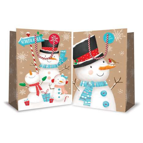 XL bag - snowmen 2 designs (6 of each)