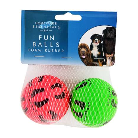 Homeware Essentials Foam Rubber Fun Balls 2 Pack