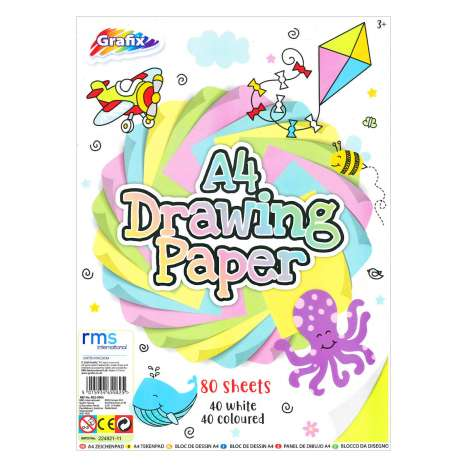 Drawing Paper White / Coloured - 80 Pages