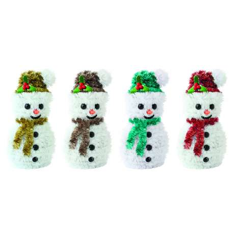 Tinsel decoration - snowman