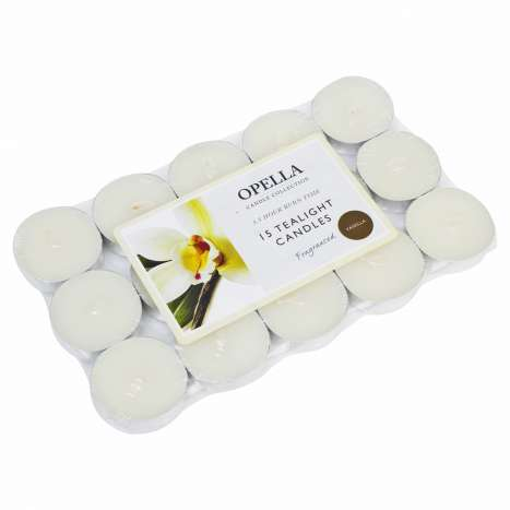 Opella Fragranced Tealights 15 Pack - Vanilla