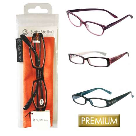 Sight Station reading glasses - assorted designs and strengths