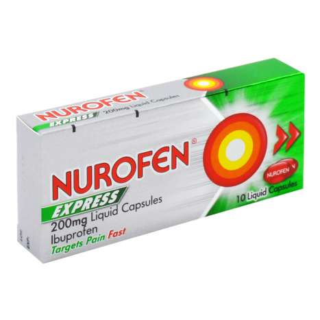 Nurofen Express 200mg Liquid Capsules 10 Pack