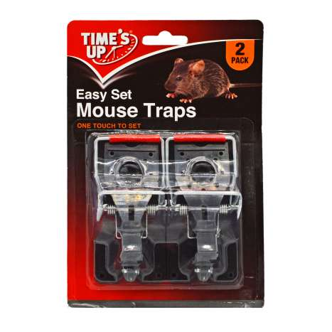 Time's Up Easy Set Mouse Traps 2 Pack