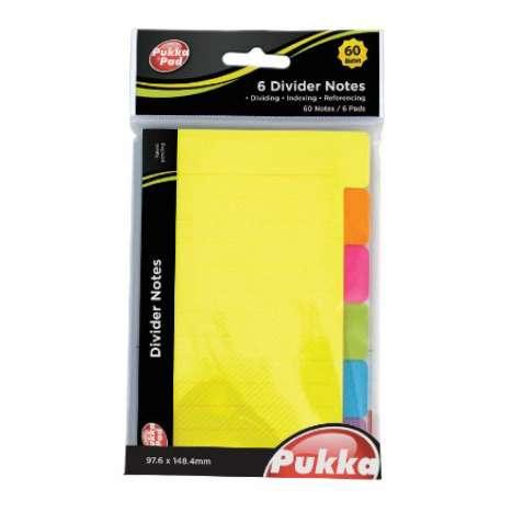 Pukka Pad Divider Notes 6 Pack