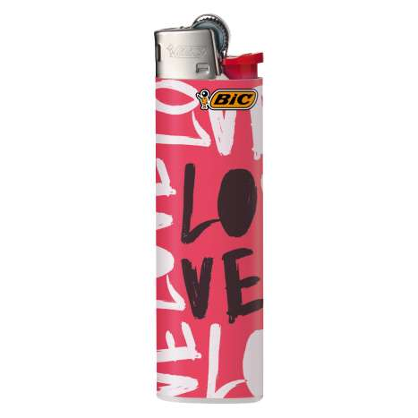 BIC Lighter J23 Decor - Slim Flint LIghter - Romance assorted designs