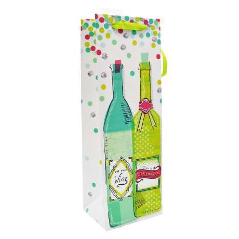 Bottle gift bag - Time to celebrate