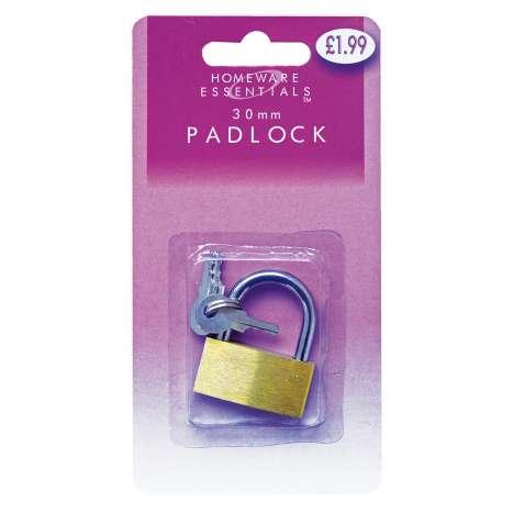 Homeware Essentials Padlock 30mm (HE27)