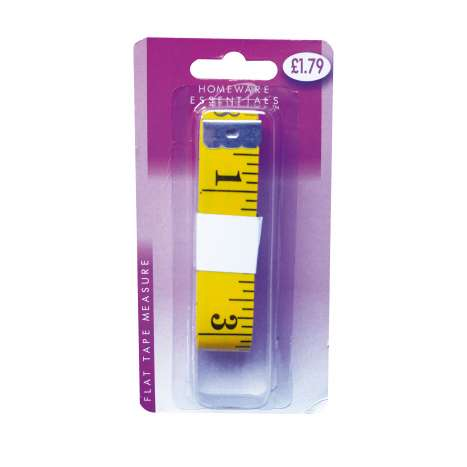 Flat tape measure 3M (cm & inches) - HE40