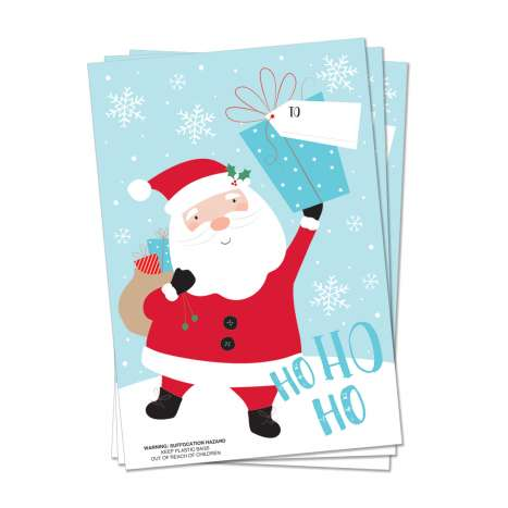 PVC Santa Sacks 3 Pack