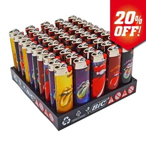 BIC Maxi Flint Lighters J26 Decor - Rolling Stones