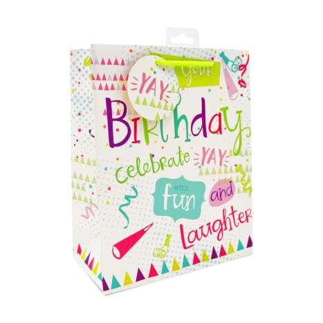 Medium Gift Bags - It's Your Birthday (21cm x 26cm)