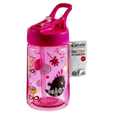 Isotitan kids drinks bottle - Pink -Happy Jungle -0.35L