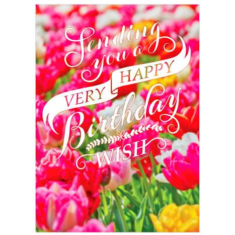 Garlanna Greeting Cards Code 50 - Wish Flowers