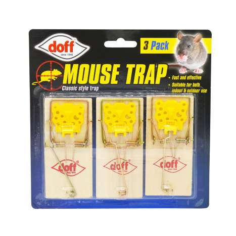 Doff Mouse Trap 3 Pack - Clip Strip Provided