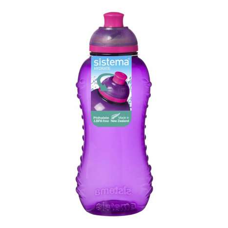Sistema twist and sip bottle - purple 460ml