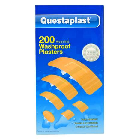 Questaplast Assorted Washproof Plasters 200 Pack