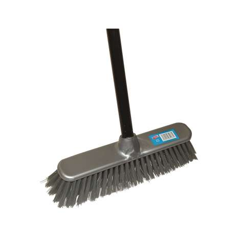 H/ess hard broom with handle - 83519