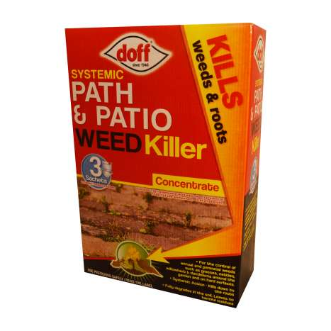 Doff path & patio weedkiller 3x100ml sachets