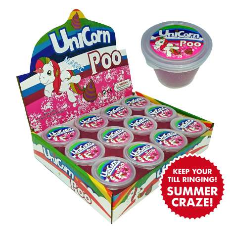 Unicorn poo play putty - glitter crystal