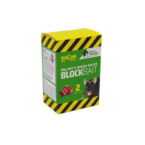 Rat mouse bait block 2pk