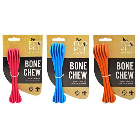 EcoPet Bone Shaped Toy - Assorted Colours