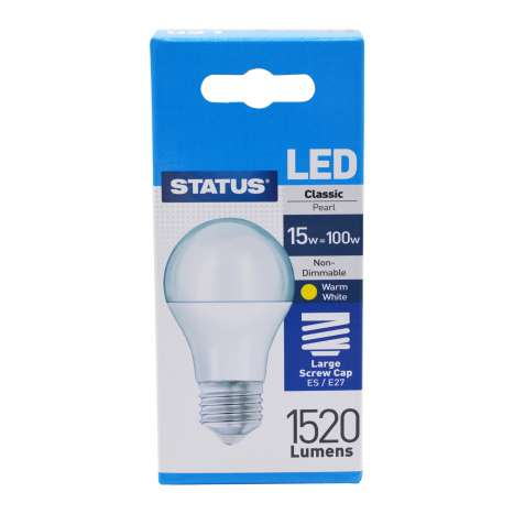 Status LED 15w=100w Classic Large Screw Cap Light Bulb