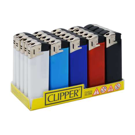 Clipper Electronic Lighters - Assorted Colours