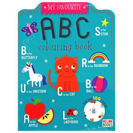 ABC Colouring Book 72 Pages + 100 Stickers