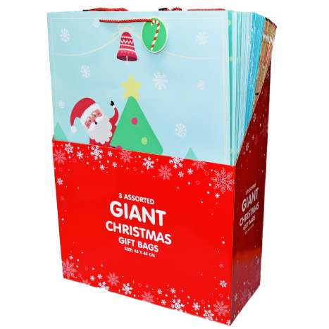 Giant Christmas Gift Bag - Assorted Designs