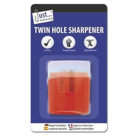 Twin hole pencil sharpener