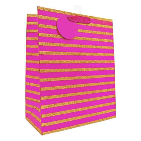 Large Gift Bags - Pink and Gold (26.5cm x 33cm)