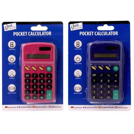Pocket Calculators - Assorted Colours