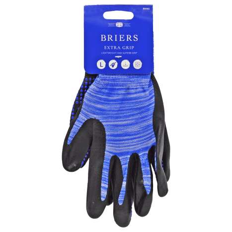 Briers Extra Grip Blue Gardening Gloves - Large