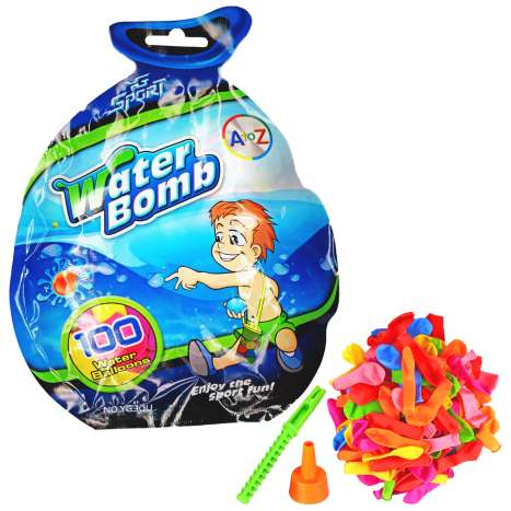 Water Bombs 100 Pack (with filling & tying tools)