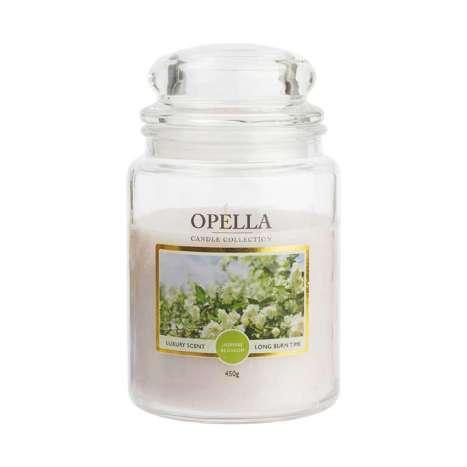 Opella Jumbo Jar Scented Candle 450g - Jasmine Blossom