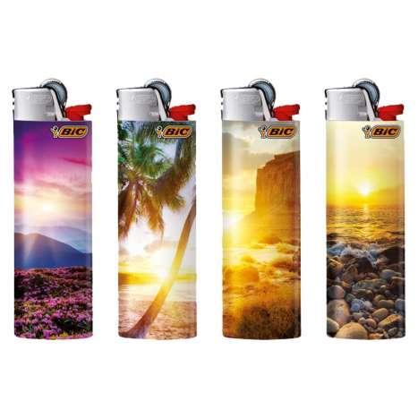 BIC Lighter J26 Decor - Maxi Flint Lighter - Sunsets