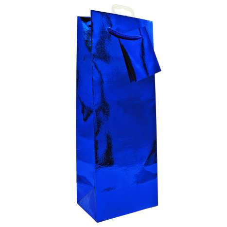 Bottle Gift Bags - Blue Holographic
